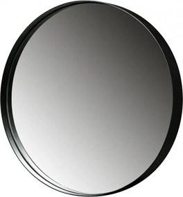Oglinda rotunda neagra din metal 80 cm Doutzen