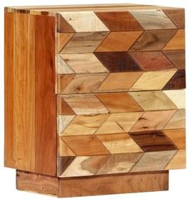 282731 vidaXL Noptieră, 40 x 30 x 50 cm, lemn masiv reciclat