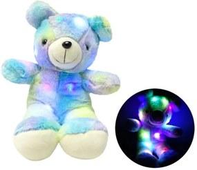 Ursulet plus iluminat LED RGB, inaltime 45 cm, albastru