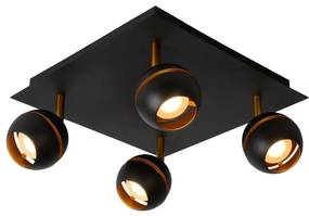 Lucide 77975/20/30 - LED lampa spot BINARI 4xLED/5W/230V negru