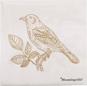 Set 20 șervețele din hârtie Bloomingville Birdie, 33 x 33 cm
