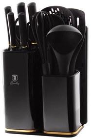 Set cutite si ustensile de bucatarie (13 piese) Black Royal Collection Berlinger Haus BH 2545