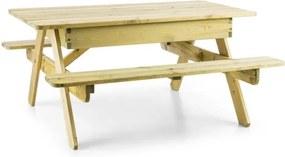 Blumfeldt ZAUBERSAND, masă picnic pentru copii, masă de joacă, lemn de pin