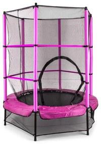 Rocketkid, 140 cm trambulină, plasă internă de securitate, roz