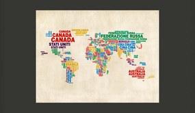 Fototapet Bimago - Map (Italian) + Adeziv gratuit 350x270  cm