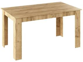 Masa de bucătărie, stejar artisan, 140x80 cm, GENERAL NEW