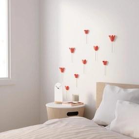 Set decoratiuni perete 3D Bloomer - Coral