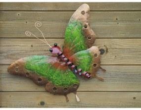 Figurina metal Butterfly green small, 32x5x38 cm