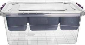 Cutie de depozitare Orion, cu capac și compartimente, 13 l, 13 l