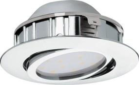 Spot incastrat PINEDA, 95848, LED, 6W, Ø 84, 500 Lumeni, 3000 K (Calda), Plastic / Crom