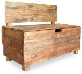244510 vidaXL Bancă din lemn reciclat de esență tare, 86 x 40 x 60 cm