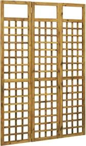 46562 vidaXL Separator cameră/spalier 3 panouri lemn masiv acacia 120x170 cm