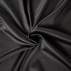 Cearşaf din satin, negru, 180 x 200 cm, 180 x 200 cm