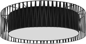 Plafoniera Patnode, metal, negru, 20 x 72 x 72 cm