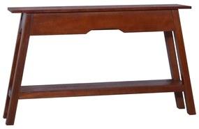 288889 vidaXL Masă consolă, maro clasic, 120x30x75cm, lemn masiv de mahon
