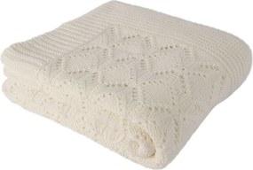 Pătură din bumbac Homemania Cotton, 170 x 130 cm, bej deschis