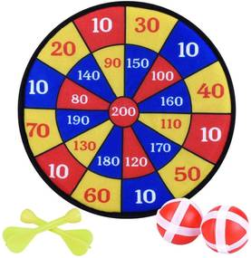 Set joc Darts pentru copii, tinta velcro, cu 2 sageti si 2 mingi