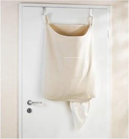 Coș de rufe suspendat Door Laundry, bej, 65 l