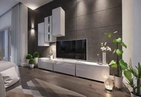 Expedo Mobilă sufragerie ELPASO 5, alb/alb luciu