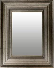 Oglinda dreptunghiulara cu rama din polistiren neagra/aurie Harper, 44,8cm (L) x 35,8cm (L) x 1,8cm (H)