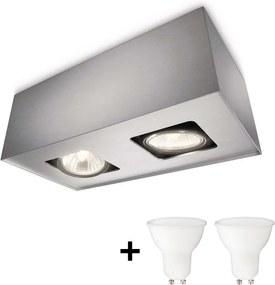 Philips 56232/48/PN - LED Lampă spot TEMPO 2xGU10/6W/230V