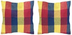 Set 2 Perne din bumbac pentru leagan sau hamac, 45x45cm, rosu/albastru