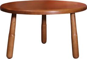 Masa rotunda Anglia din lemn maro 47x80 cm