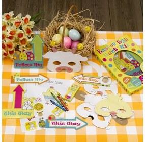 Joc creativ din hârtie Neviti Easter Craft Egg Hunt Kit