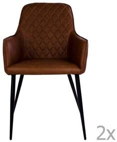 Set 2 scaune House Nordic Harbo, maro