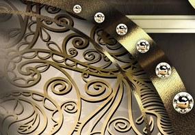 Bimago Tablou - Golden beans 100x50 cm