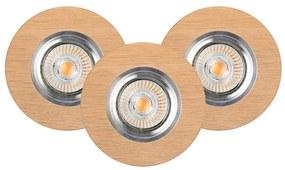 Spot-Light 2511374 - SET 3x Lampă încastrată LED VITAR 3xGU10/5W/230V
