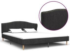 280641 vidaXL Cadru pat, gri închis, 180 x 200 cm, material textil