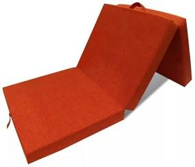 241605 vidaXL Saltea din spumă, pliabilă, 190 x 70 x 9 cm portocaliu