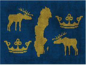 Fototapet Bimago - Sweden - Symbols + Adeziv gratuit 350x270  cm