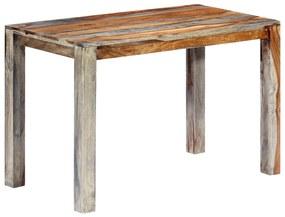 248009 vidaXL Masă de bucătărie, 118 x 60 x 76 cm, lemn masiv de sheesham