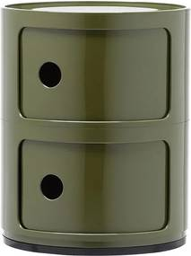 Comoda modulara Kartell Componibili 2 design Anna Castelli Ferrieri, verde