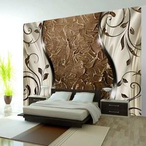 Fototapet Bimago - Brown twigs + Adeziv gratuit 250x175 cm
