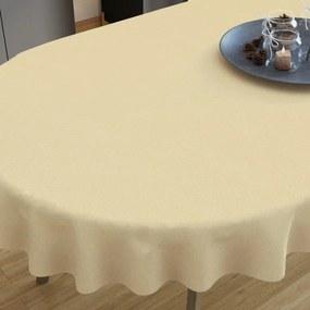 Goldea față de masă decorativă  loneta - bej - ovale 140 x 280 cm