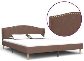 280655 vidaXL Cadru de pat, maro, 160 x 200 cm, material textil