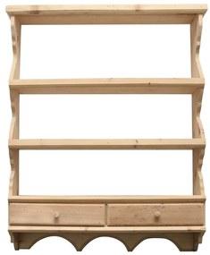 Blidar Cassa din lemn natur 83x20x105 cm