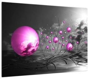 Tablou  bilelor roz (70x50 cm), în 40 de alte dimensiuni noi