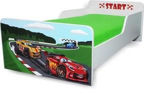 Pat copii  Racing 2-8 ani cu saltea cadou