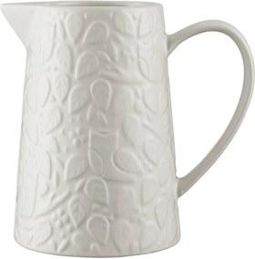 Carafă din ceramică Mason Cash In the Forest, 1 l, alb