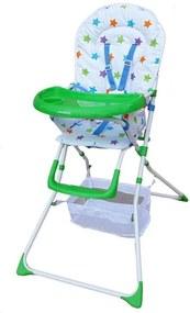 Scaun de masa pentru copii Niami Mamakids - Verde cu Stelute