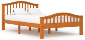 283318 vidaXL Cadru de pat, maro miere, 120 x 200 cm, lemn masiv de pin