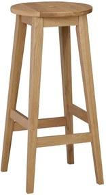 Scaun din lemn de stejar Rowico Metro, înălțime 75 cm
