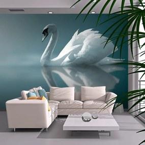 Fototapet - White swan 200x154 cm