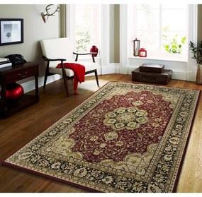 Covor vintage culoarea roșie cu modele crem Lăţime: 200 cm | Lungime: 300 cm