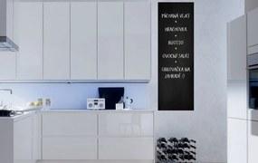 Chalkboard foil in the kitchen - autocolant de perete Negru 50 x 100 cm