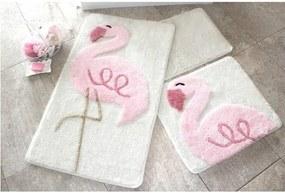 Set 3 covorașe de baie Confetti Bathmats Flamingo